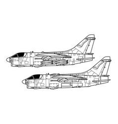 Ling temco vought a-7 corsair ii vector