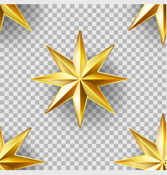 Luxury stars seamless pattern vector