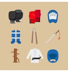 Martial arts icons vector