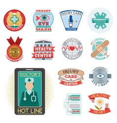 Medical emblem vintage tag vector