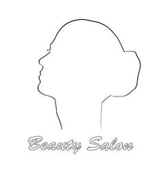 minimalist logo design silhouette lines vector image