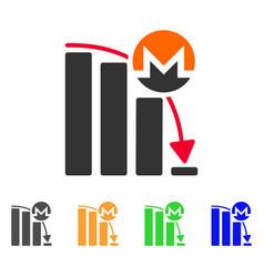 Monero falling acceleration chart icon vector