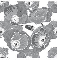 monochrome seamless floral pattern beautiful and vector image