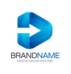 Moving forward logo in vector