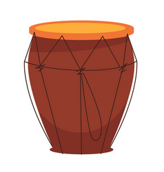 National african tom-tom drum made wood vector