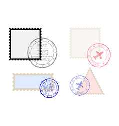 Postal stamps vector