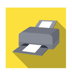 Printer icon in flat style isolated on white vector