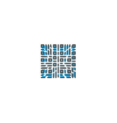 qr code icon design shopping icon design vector image