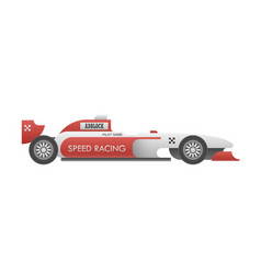 racing car side view vector image