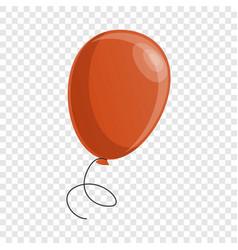 red balloon icon cartoon style vector image