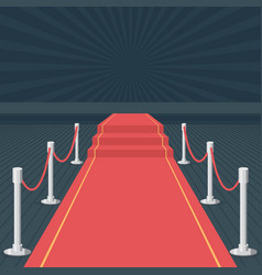 Red carpet of cinema award event red carpet stage vector