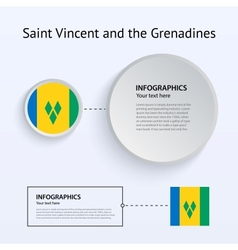 Saint Vincent and Grenadines Country Set of vector