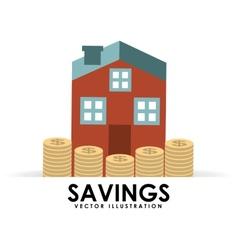 Savings house vector