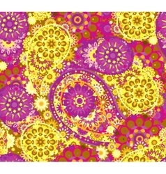 Seamless pattern in Eastern style Colorful vector
