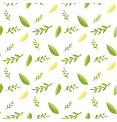 seamless pattern with fresh green yellow leaves vector image