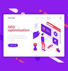 seo optimization work people and interact vector image