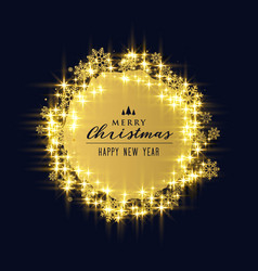 Shiny sparkles and snowflakes for christmas vector
