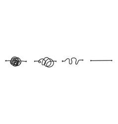 simplify concept simplification streamlining vector image