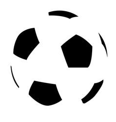 soccer ball simple flat icon vector image