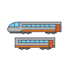 train line icon concept train flat sign vector image