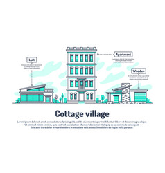 Urban buildings property housing real estate vector
