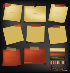 Vintage papers ready for your message vector