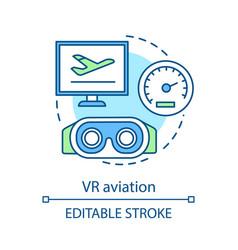 vr aviation concept icon vector image