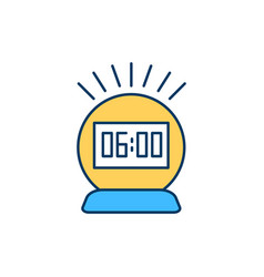 Waking up at dawn rgb color icon vector