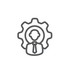 Workforce line icon on white background vector