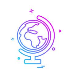 world globe icon design vector image