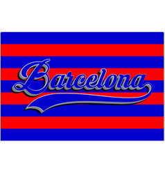 barcelona typography sports graphic vector image
