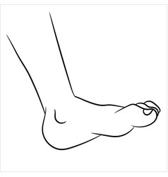 foot cartoon - line drawn vector image