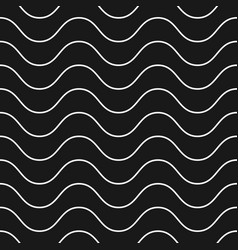 Horizontal thin wavy lines seamless pattern vector