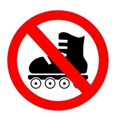 No roller skates icon vector image vector image