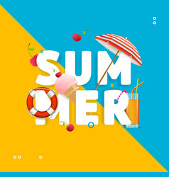 summer concept card travel holiday vector image vector image