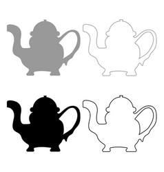 teapot icon grey and black color vector image