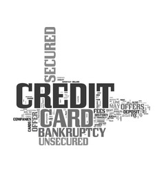 Why choose a secured credit card offer after vector