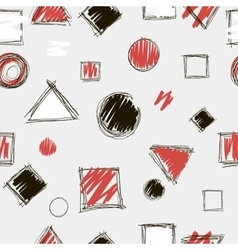 Abstract hand drawn doodle seamless pattern vector image