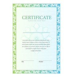 Certificate Template diplomas currency vector image vector image