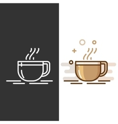 Glass coffee cup icon vector image vector image