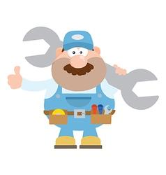 Happy Mechanic Cartoon Giving Thumbs Up vector image vector image