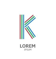 LOREM ipsum K vector image vector image