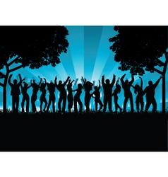 outdoor party vector image vector image