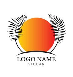 palm tree logo vector image vector image