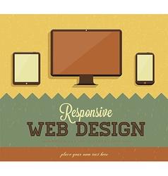 Retro web design template vector