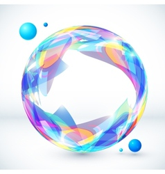 Abstract colorful sphere image vector image