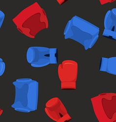 boxing gloves and helmet sports Seamless Pattern vector image vector image