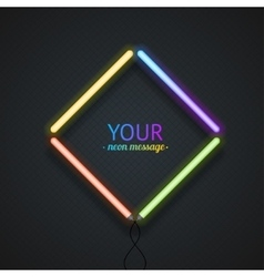 Colorful Neon Frame vector image vector image