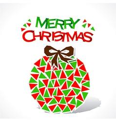 creative merry Christmas ball design vector image vector image