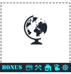 Globe icon flat vector image vector image
